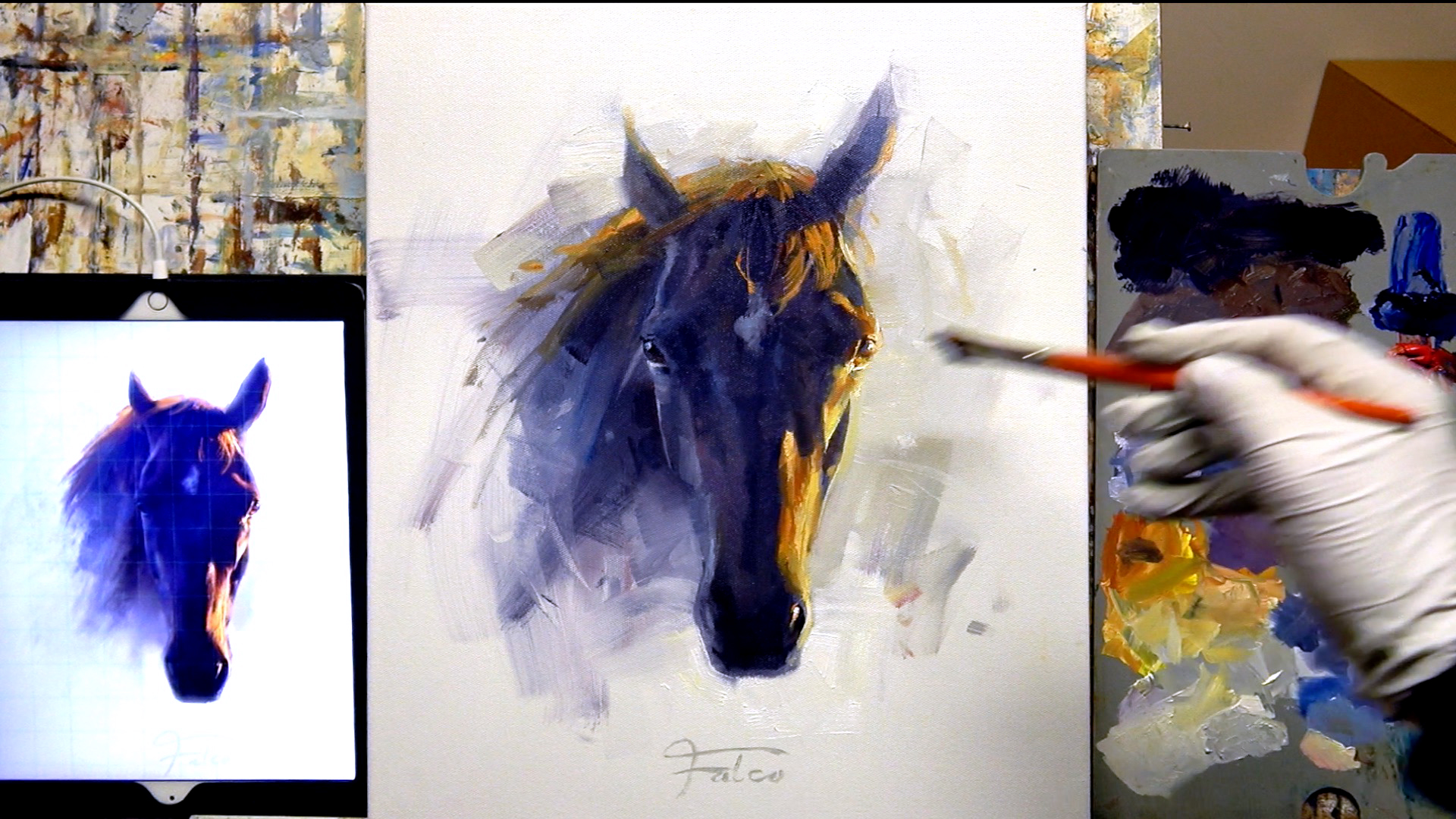 Painting a Horse from Digital to Oils