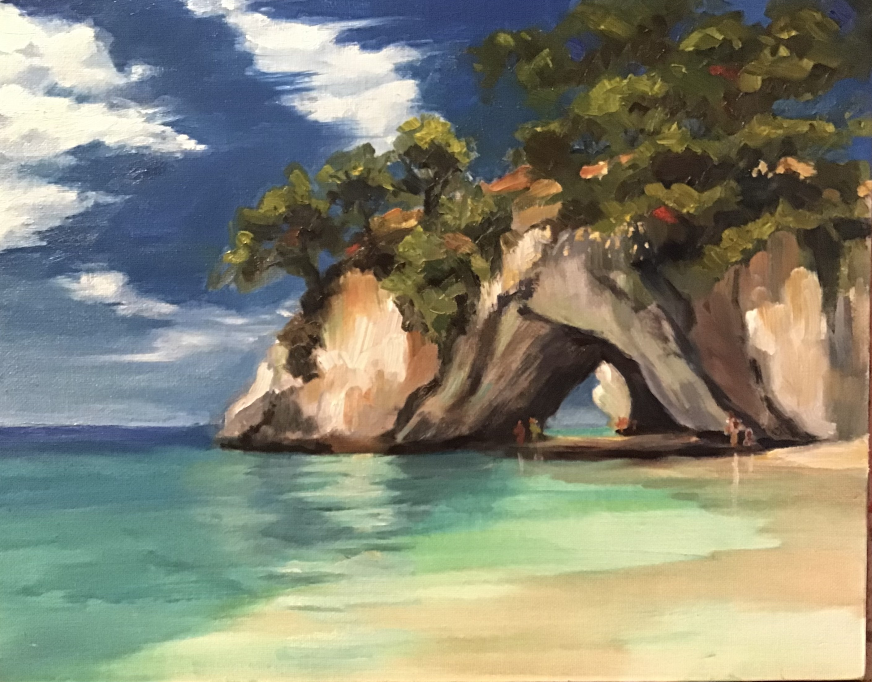 Cathedral Cove, 11x14, oil on canvas panel