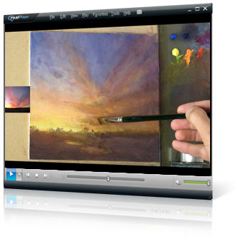 Mastering Sunsets video painting course project 3